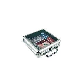 Poker Chip Set En Tapa De Acrílico, Aluminio Caso (100piez