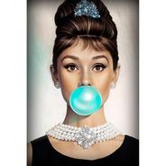 Placa - Quadro - Decorativo - Audrey Hepburn -  (v006)