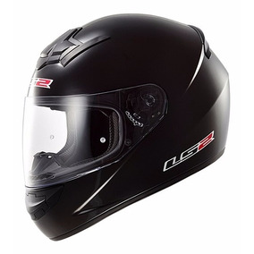 Casco Integral Ls2 Single Mono Ff352 Negro Brillo Fas Motos