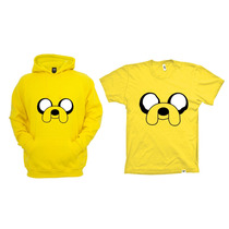 Combo Blusa Com Camiseta Jake - Hora De Aventura
