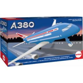 A380 Avion A Friccion Con Luz Original De Antex