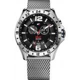 Tommy Hilfiger 1790976 Mens Negro Y Plata Reloj Barón