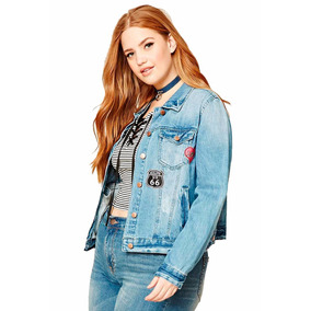 Campera Jean Forever 21 Parches Talle Especial