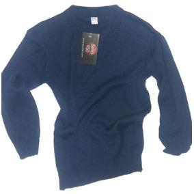 Sweater Escote V Escolar Uniforme Colegio Azul Verde Bordo