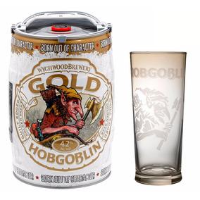 Barril Cerveza Hobgoblin Dorada Gold 5 Lt Inglaterra + Vaso