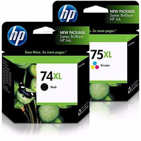 Kit Jato De Tinta Original Hp 74xl Cb336wb E 75xl Cb338wb
