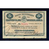 Billete Banco Hipotecario 14/7/1891 5 Centavos - Pick S 611