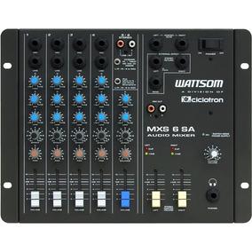 Mesa De Som 6 Canais Stereo Ciclotron - Mxs 6 Sa
