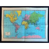 Mapa Planisferio Escolar (años 50