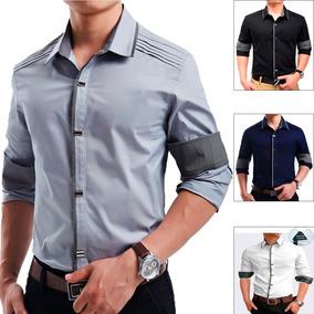 Camisa Social Slim Fit Luxo Masculina Importada Varias Cores