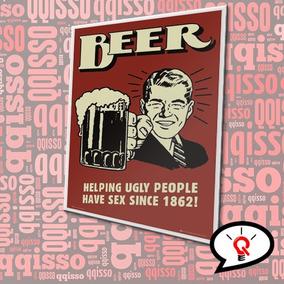 Placa Retrô Vintage Cerveja Beer Duff Pvc Frete Grátis