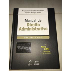 Livro Manual De Direito Adminsitrativo - Alessadro Dantas