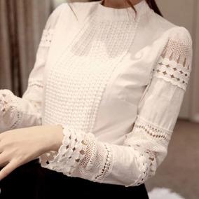 Blusa De Encaje Para Dama Moda Japonesa, Envio Gratis