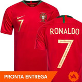Camisa Portugal Nike Titular Home 2018 Original Nº7 Ronaldo