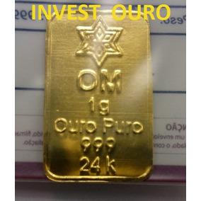 Barra De Ouro 24k 1 Grama Ouro Minas Lacrada