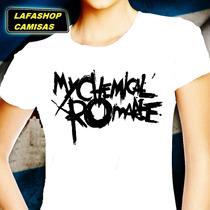 Camiseta My Chemical Romance Camisa Baby Look Feminina Moca