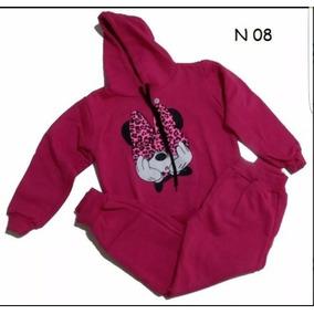 Conjunto Moleton Criança Infantil Minnie Calça E Blusa