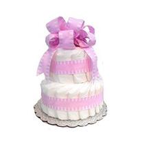 Torta De Pañales Ducha Clásica En Colores Pastel Del Bebé (