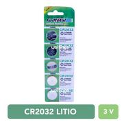 5 Pilas Cr2032 Litio 3v. Boton Alarma Balanza Llaves De Auto