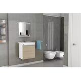 Toucador Gabinete Banheiro Clg 45cm Espelho + Cuba + Armário