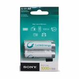 Juego De 2 Pilas Sony Recargables Aaa Cycle Energy 2500 Mah