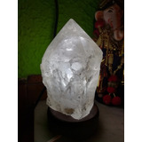 Lampara Cuarzo Cristal 16x11 Cm. No Sal Himalaya, Amatista