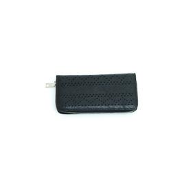7d95fe11c Billetera Fuera De Serie De Mano Sencilla Negra Con Textura