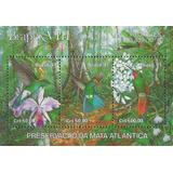 Fauna Flora - Pájaros Orquídeas - Brasil - Block Mint (mnh)