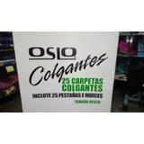 Carpetas Colgantes Oslo Paquete 25 Unid Incluye Pestañas