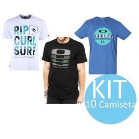Kit 10 Camisetas Hurley E Quiksilver Atacado Surf Frete Grá. R  270 d0703781db2