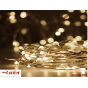 Fio Cobre Prata - Cordão Luz Fada - 5m 50 Leds - Fairy Ligh