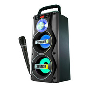 Parlante Spica Portatil + Microfono Karaoke Bluetooth