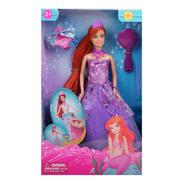 Muñeca Tipo Barbie Princesa-sirena Fenix Envio Full (30017)
