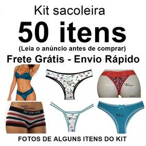 Kit Sacoleira 50 Itens Calcinhas, Tangas, Soutien Atacado