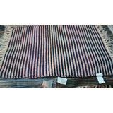 Alfombra Multicolor Rustica 80 X 50 Con Fleco Algodon 100%