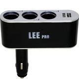 Plugue Automotivo Com 3 Saídas E Usb 12 V 608749 Lee Tools