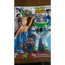 Toy Story Buzz Lightyear Woody Cara De Papa Luz /sonido 25cm