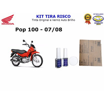 Tira Risco Moto Honda Pop 100 - Vermelho - 2007 A 2008