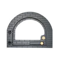 Porta De Forno Iglu Ferro Fundido Com Vidro