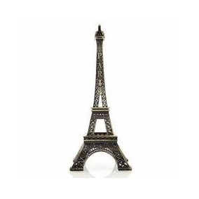 10 Miniatura Torre Eiffel De Metal 10 Cm Decorativa