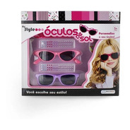 Oculos De Sol Meninas My Style Rosa/roxo Multikids - Br135