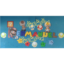 Letras En Foamy Para Niños Y Niñas!! Decoracion Divertida!!