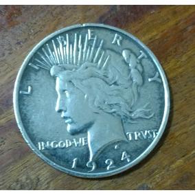Moeda Americana Rara, Peace Dollar 1924 ( Dolar Da Paz )