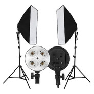 Kit 2 Soft Box Tipo Sombrinha 50x70cm + 2 Tripe 2m
