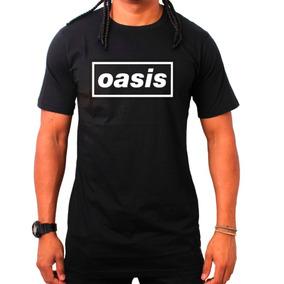 Camiseta Oasis - Preta - Rock Banda Camisa
