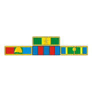Placa Com 4 Barretas De Medalhas - Fixação Por Imã