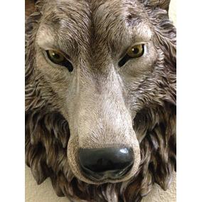 Cabeza Animal Resina Lobo