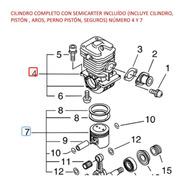 Repuesto Motosierra Echo Cs-510 Cilindro Compl C/ Semicarter