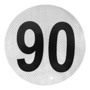 Círculo Reflectivo Reglamentario Velocidad Máxima Apto Vtv