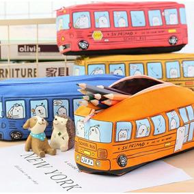 Estojo Escolar Ônibus Kawaii Super Fofo Novidade
